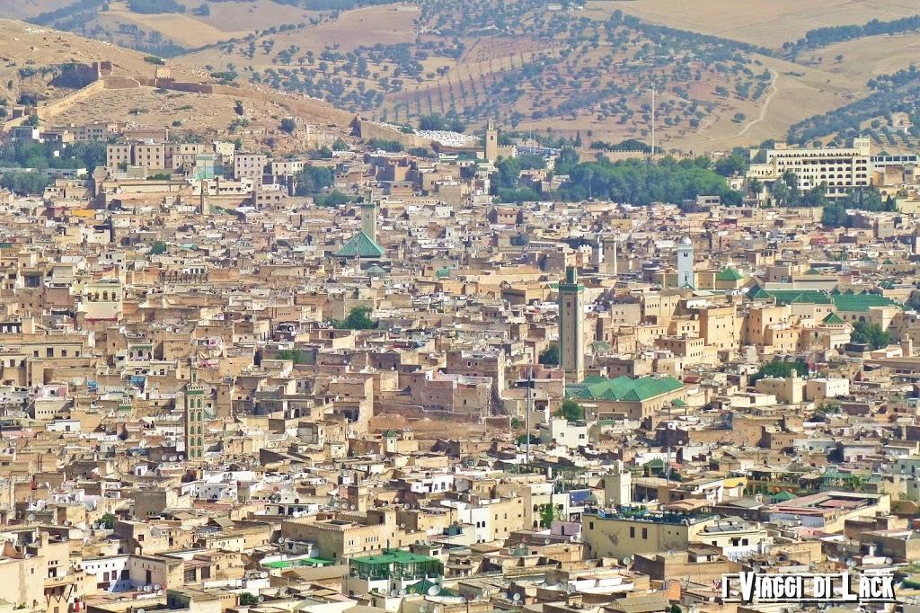Panorama con vista della Medina di Fez