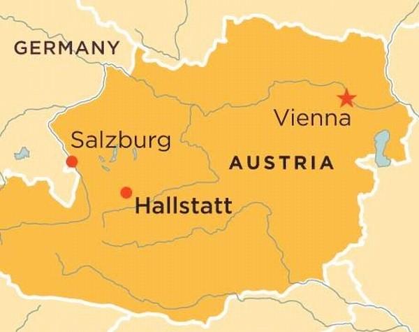mappa di Hallstatt