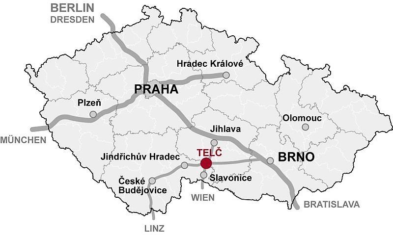 mappa di Telc