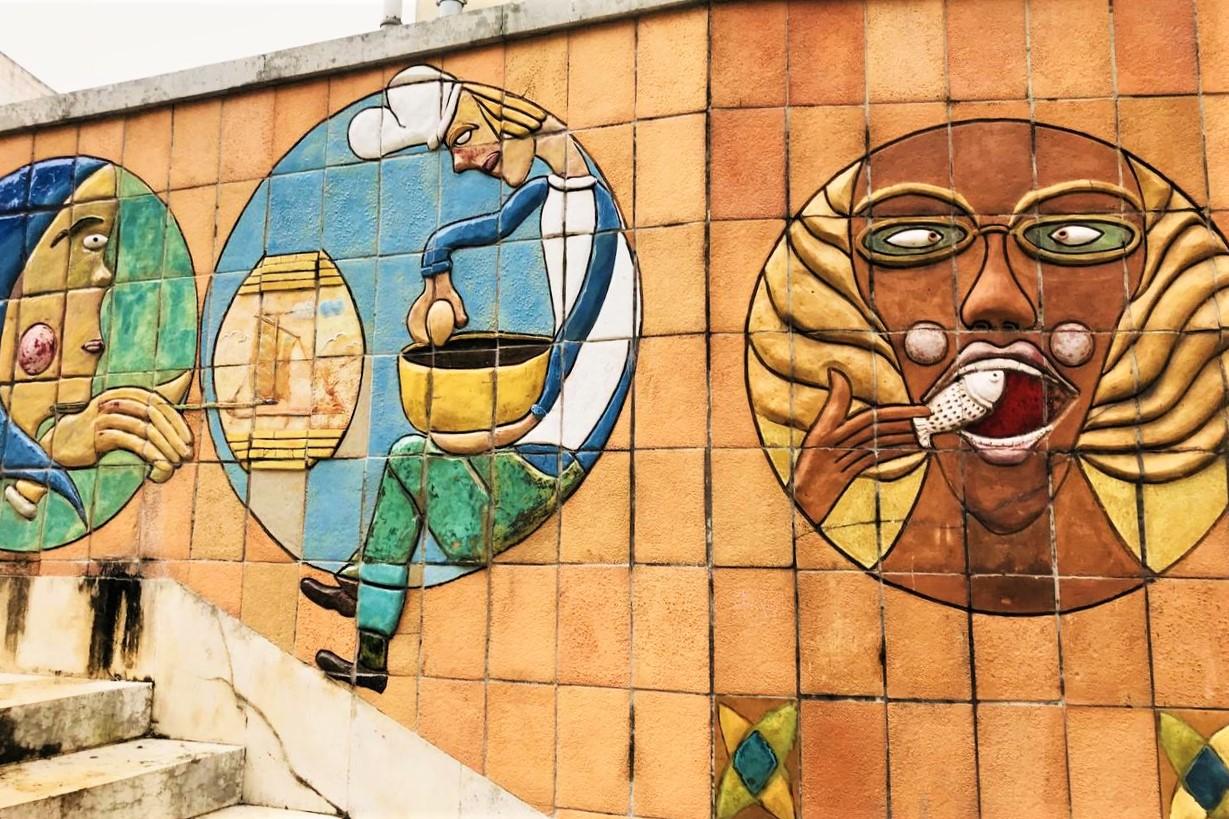 murales di piastrelle in ceramica
