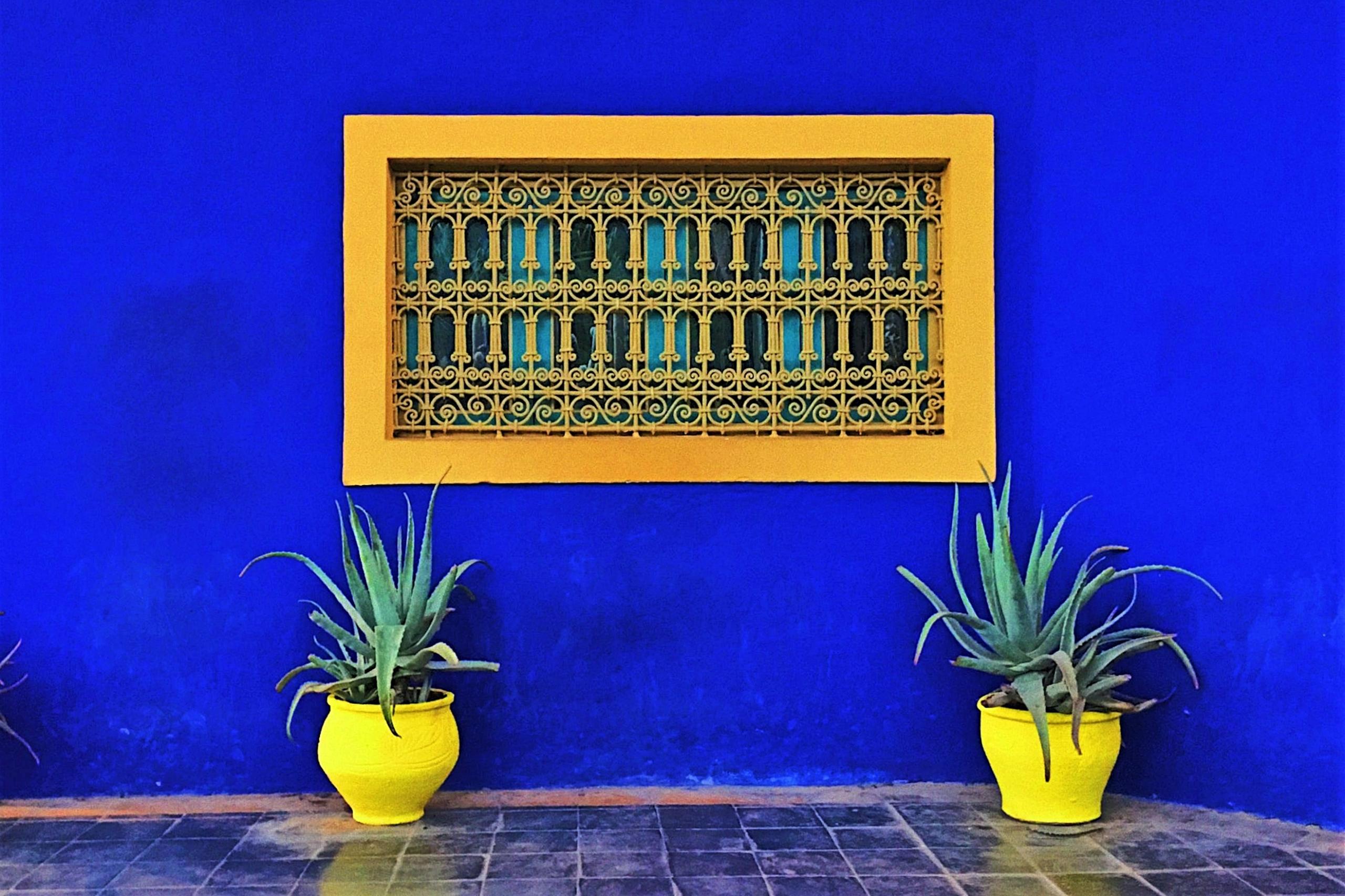 muro blu majorelle