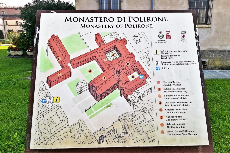 mappa del monastero